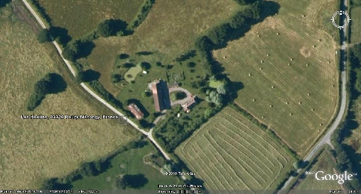 bed & breakfast Allier - The aerial view of Les Houllins