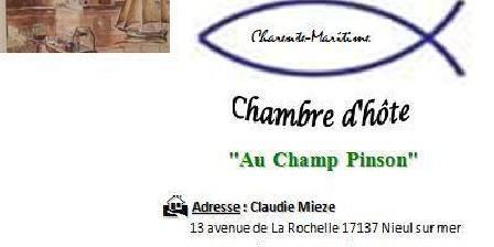 Au Champ Pinson Au Champ Pinson, Chambres d`Hôtes Nieul Sur Mer (17)