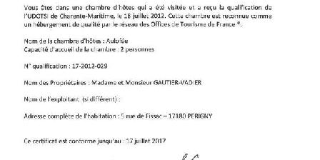 Chambre d'hotes Gautier Suzanne > Gautier Suzanne, Chambres d`Hôtes Perigny/rompsay (17)