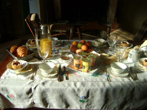 Chambre d'hote Gironde - petit déjeuner
