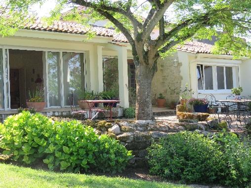 Chambre d'hote Gironde - vue de la terrasse