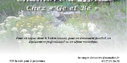 Chez Ge et Bé Chez Ge et Bé, Chambres d`Hôtes Hérin (59)