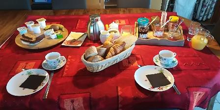 La Chêneraie La Chêneraie, Chambres d`Hôtes Payrac (46), petit déjeuner