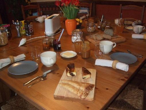 Petit déjeuner et caramel au beurre salé