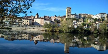 Maison Les Fraysses Vue sur Cahors rive gauche