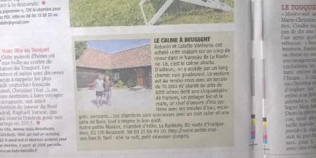 Notre Petite Maison Article paru dans la presse