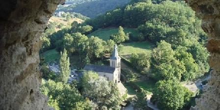 Moulin de Limayrac Belcastel, Vue du chateau