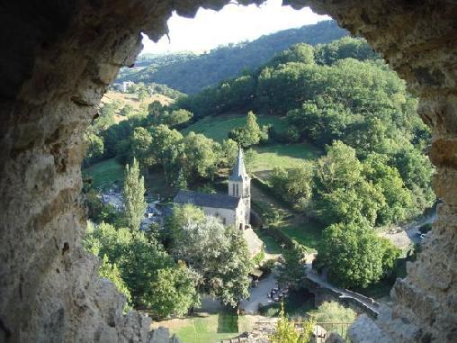 Belcastel, Vue du chateau
