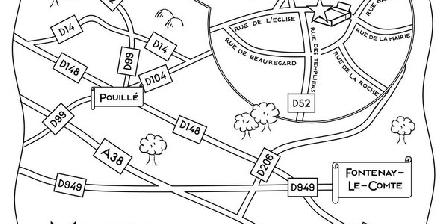Maison des Amis Maison des Amis, Chambres d`Hôtes La Chapelle Themer (85)