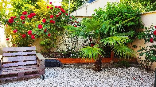 Chambre d'hote Calvados - Arrière jardin terrasse