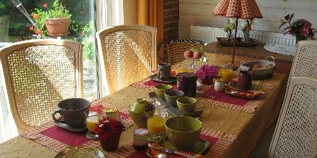 Location de vacances Location de Vacances de la Roguenette > le repas dans la pièce d evie