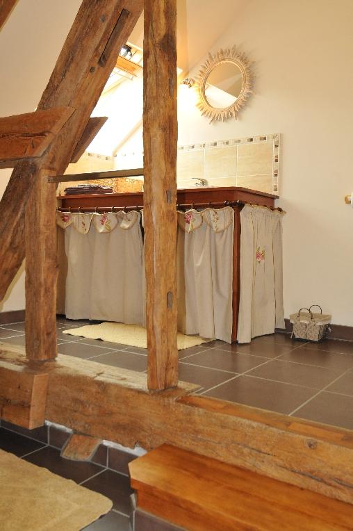 Chambre d'hote Eure-et-Loir - une partie dela salle d'eau