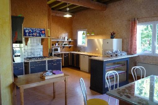 Espace cuisine Casa Arbores Jura