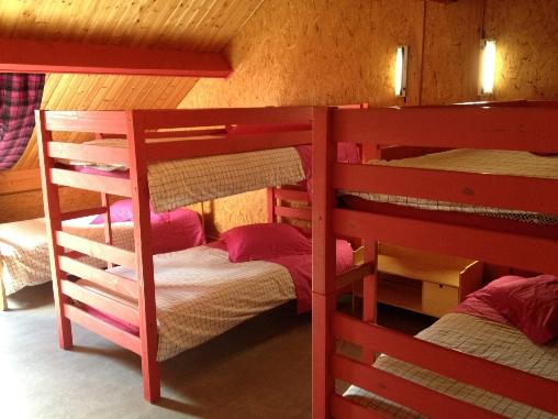 Chambre 5 places étage Casa Arbores Jura