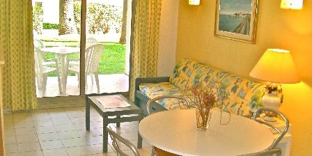 Location de vacances 2 Pièces à Juan-les-pins > Living avec accès terrasse