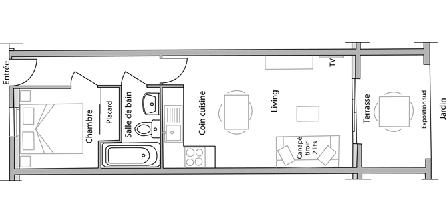 2 Pièces à Juan-les-pins Interior Floor plan