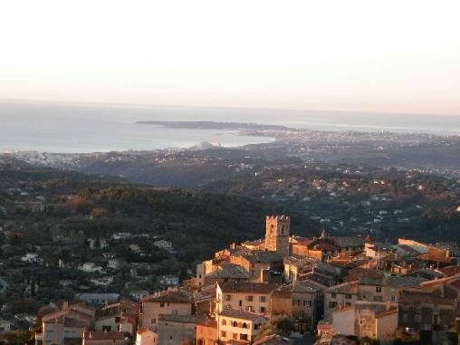 Chambre d'hote Alpes Maritimes - la vue depuis le village