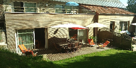 Gîtes Les Salicornes Terrasse gite Perce-Pierre au rdc
