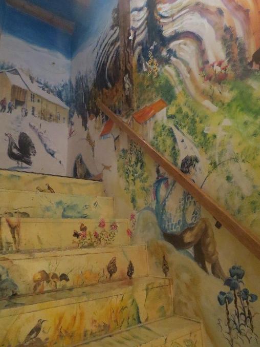 Chambre d'hote Jura - Escalier