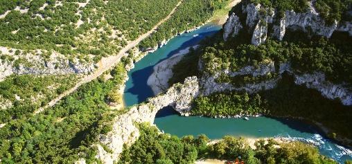 gorges de l'Ardèche proches du mas de Dumas