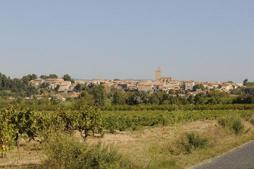 Chambre d'hote Aude - vue du village d'AZILLE