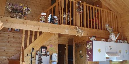 Location de vacances Les Chalets de La Vigne Grande > vue sur mezzanine