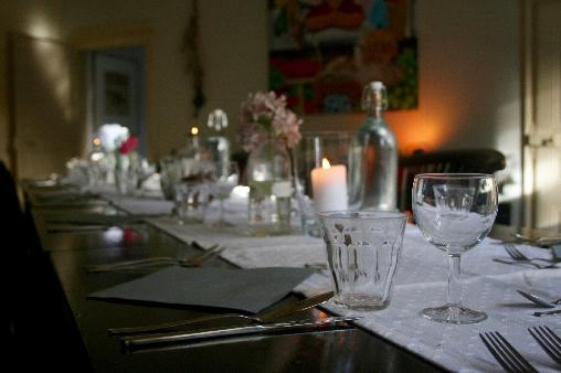 Table d'hotes: tous les soirs
