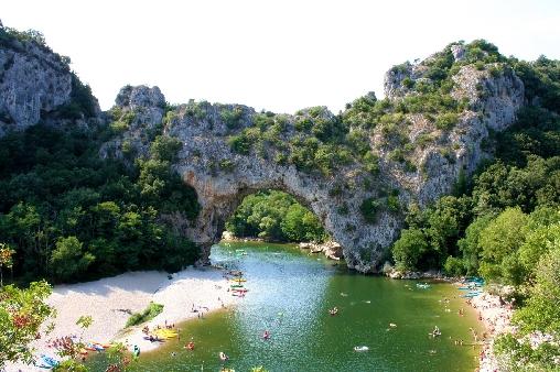 l'Ardèche et le Pont d'Arc