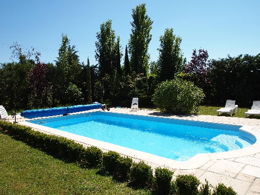bed & breakfast Ardèche - the swimming pool