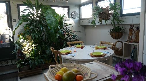 Chambre d'hote Aude - le coin repas