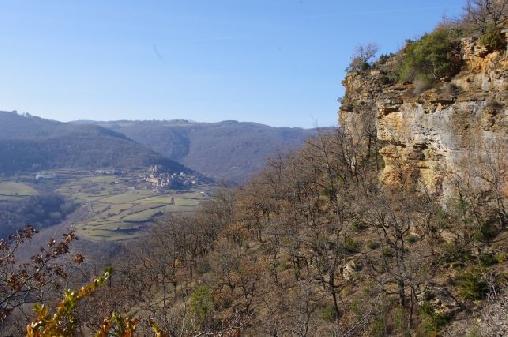 balades nivélé à partir de Roquetaillade ici vue sur Marzials