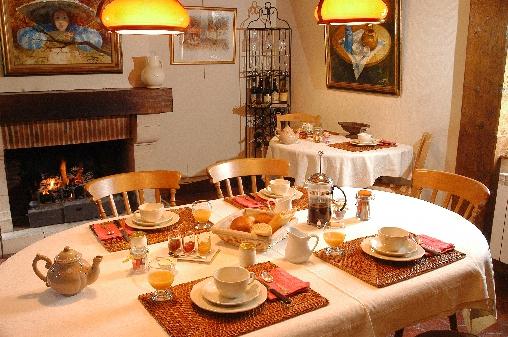 Chambre d'hote Calvados - Petits déjeuners au coin du feu