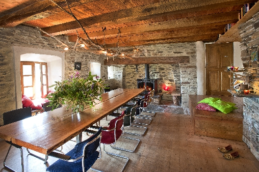bed & breakfast Lozère - Dining room the source of castagnols