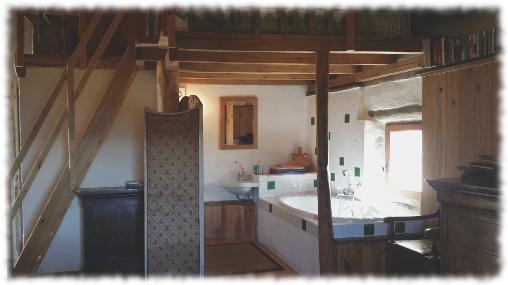 Chambre d'hote Lozère - Oustaou Salle de bain chamlbre Est