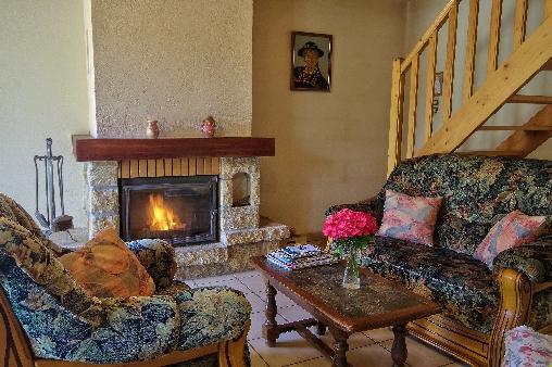 Coin salon et cheminée