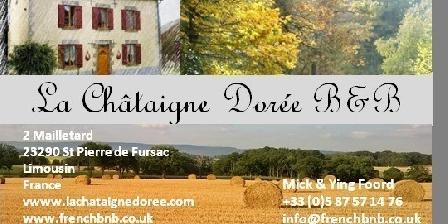La Châtaigne Dorée La Châtaigne Dorée, Chambres d`Hôtes St Pierre De Fursac (23)