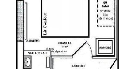 Maison des Contes de Fées Plan de la Chambre