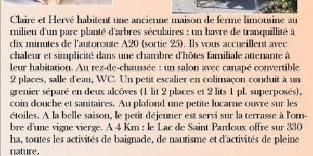 Chambre d'hotes Chambre D'hôte de Vauguenige > Chambre D'hôte de Vauguenige, Chambres d`Hôtes Saint Pardoux (87)
