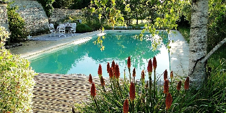 La Charmentaise The landscape garden and the large pool