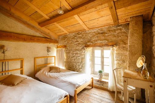 bed & breakfast Haute-Loire - One of the rooms of the familyfloor