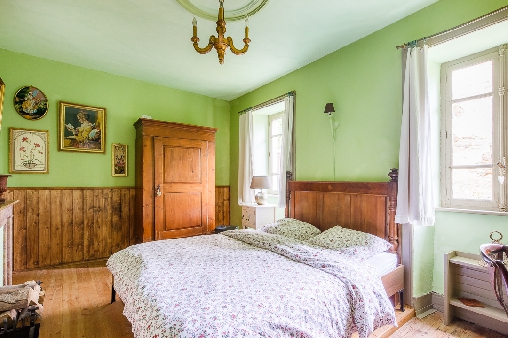bed & breakfast Haute-Loire - Our green room with double bed