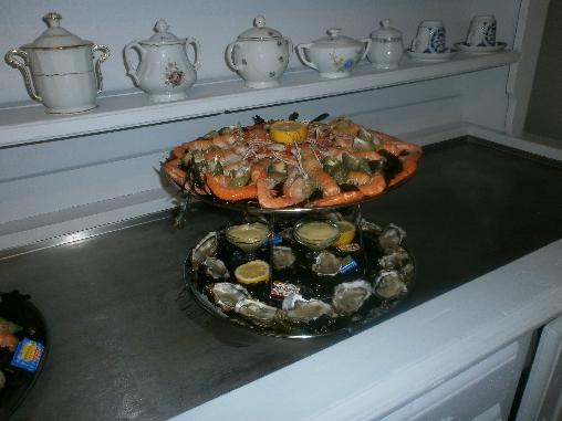 plateau de fruit de mer pour deux personnes