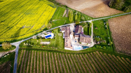 bed & breakfast Dordogne - The Garry; Aerial view