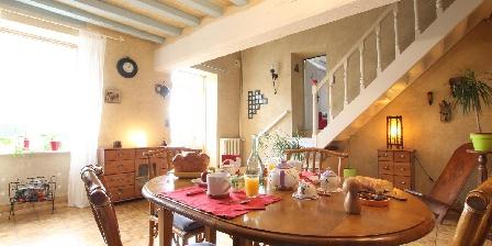 La Chambre des Anges 3 épis Gdf Petit-déjeuner servi dans salle devant la cheminée