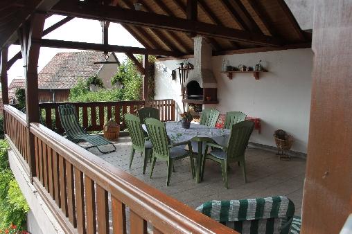 Chambre d'hote Bas-Rhin - La terrasse