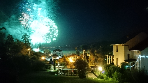 bed & breakfast Haute-Savoie - fireworks on the Lake from our garden