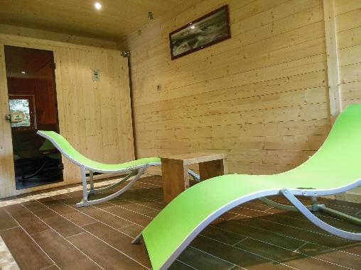 espace sauna au chalet du seu