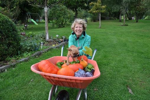 Chambre d'hote Haut-Rhin - Recolte d'automne, Corinne et Nova