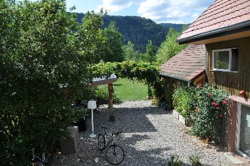 Chambre d'hote Haut-Rhin - La maison et le jardin