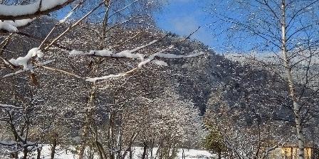 Chambres d'Hôtes Les Arts Verts Vue du jardin en hiver